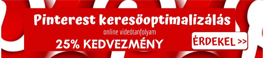 Pinterest keresőoptimalizálás online videótanfolyam banner